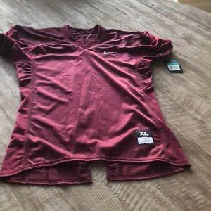 Burgundy Niki football jersey